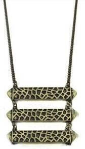 Copper Moire Piece Long Necklace