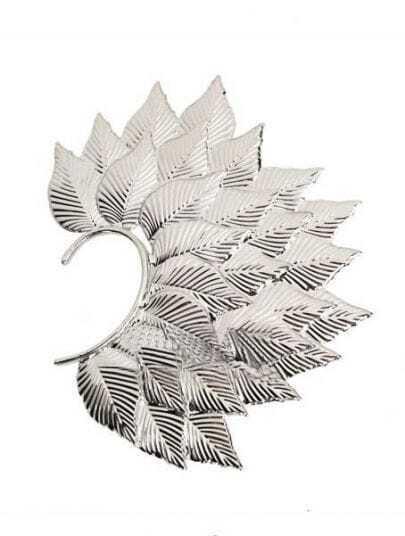 Silver Tree Leaves Dangle Earrings