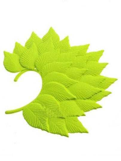 Yellow Tree Leaves Dangle Earrings