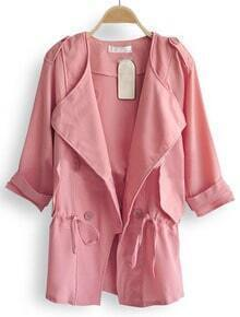 Pink Military Drawstring Outerwear