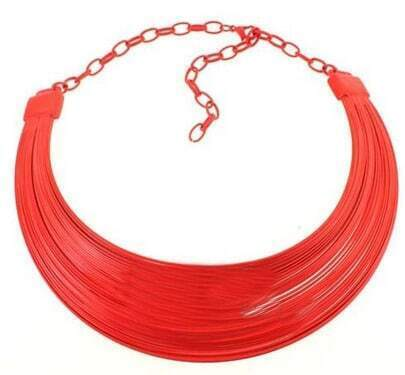 Orange Fluorescence Tassel Necklace