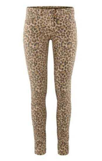 Leopard Skinny Low Waist Elasic Denim Pant