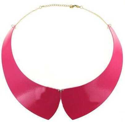 Pink Collar Gold Chain Necklace