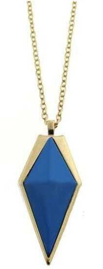 Blue Cone Gold Long Necklace