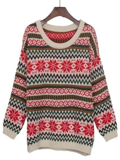 Snowflake Striped Sweater 59