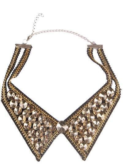 Gold Rivet Collar Chain Necklace