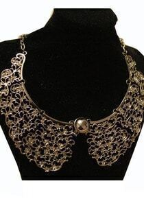 Metal Pattern With Beads Neaklace