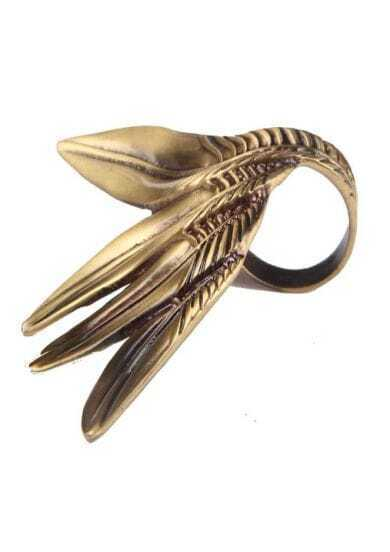 Gold Four Leaves Ring