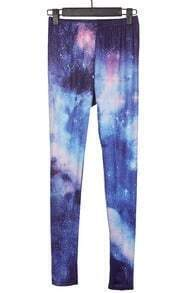 Navy Blue Galaxy Dip Dye Legging