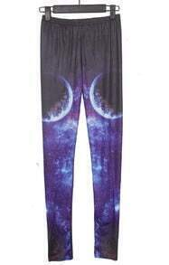 Navy and Purple Earth Galaxy Dip Dye Legging