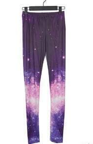 Purple and Pink Galaxy Dip Dye Legging