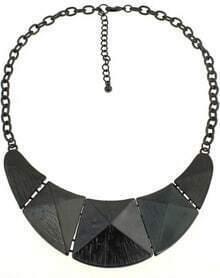 Black Cone Splice Chain Necklace