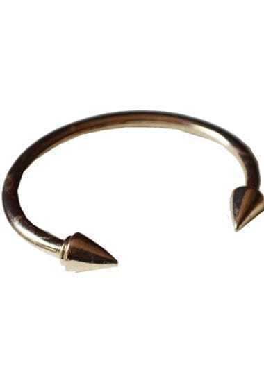 Gold Double Cone Cuff Bracelet