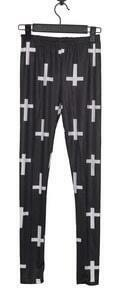 Black White Cross Print Legging