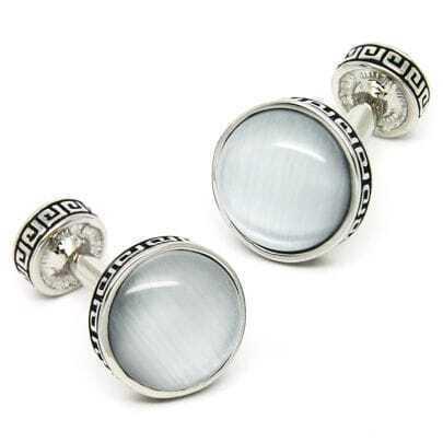 Opal Sterling Silver Cufflinks