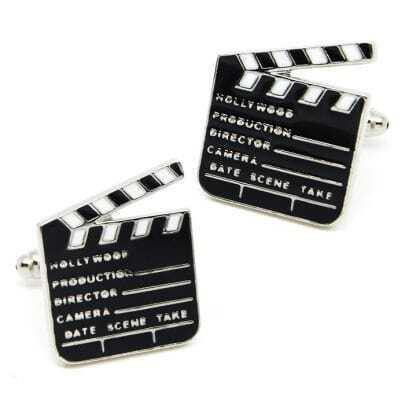 Black Movie Slates Board Cufflinks
