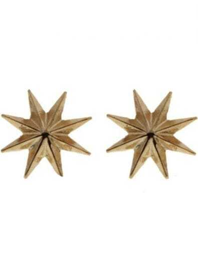 Gold Star Aniseed Stud Earrings
