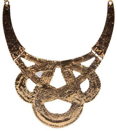 Gold Twine Chain Necklace