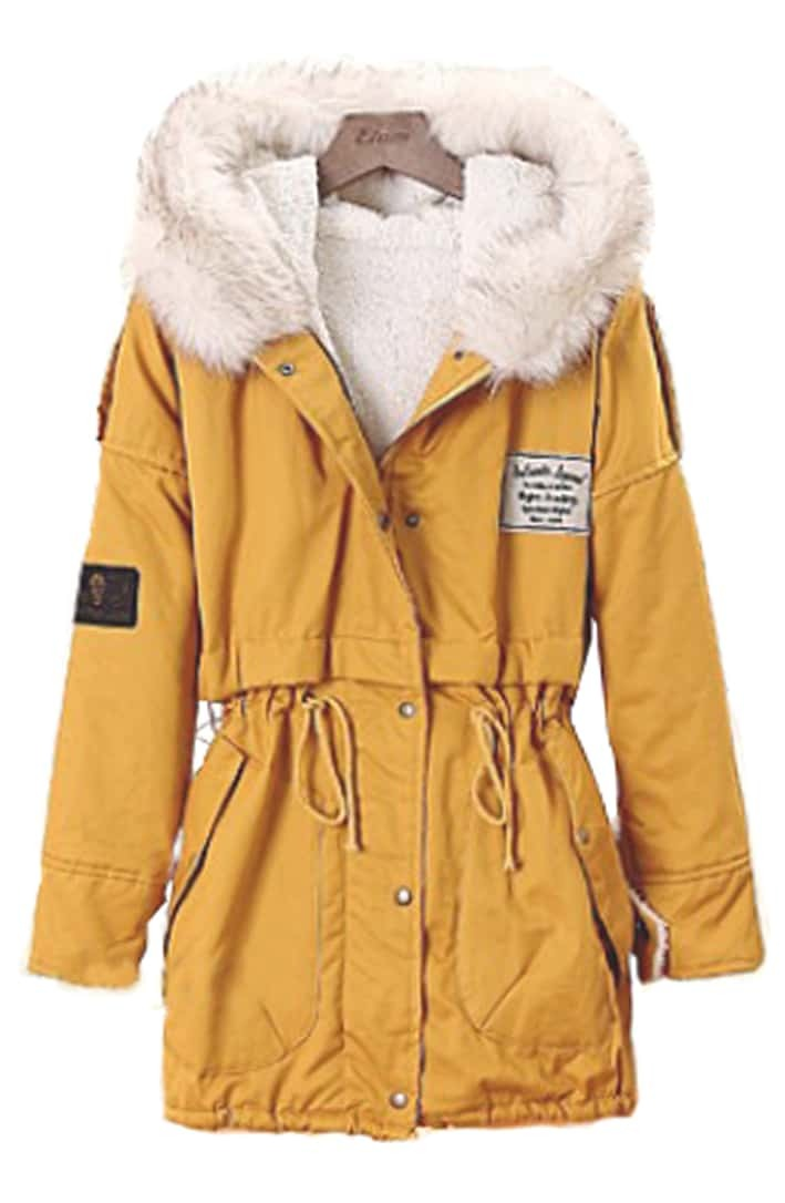Yellow Parka Coat - Coat Nj