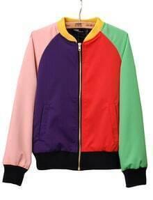 Multi Long Sleeve Zipper Pockets Jacket Coat