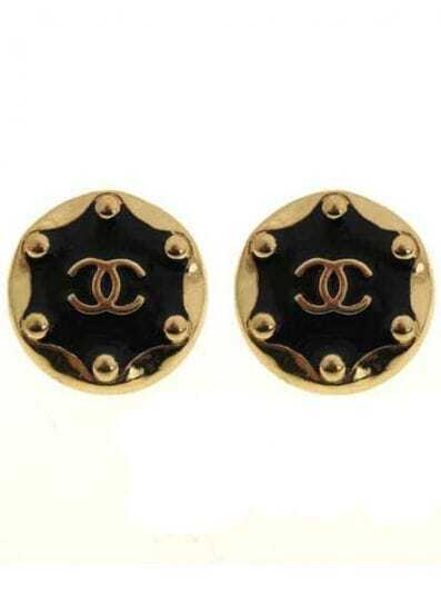 Gold Double C Stud Earrings