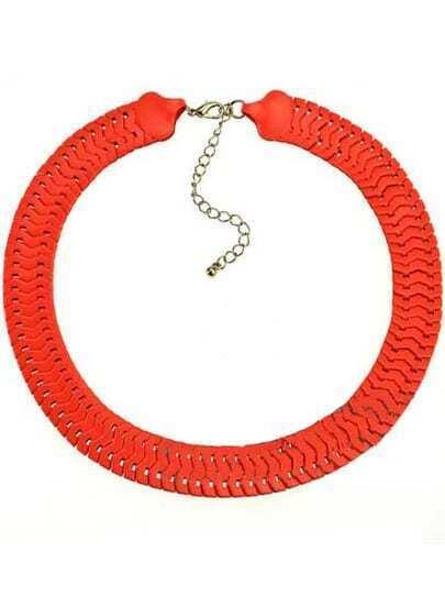 Orange Chain Necklace