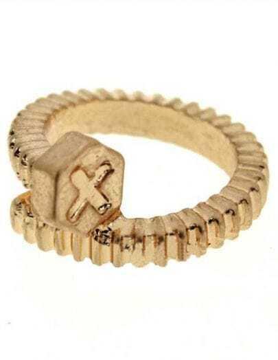 Gold Bending Screw Ring