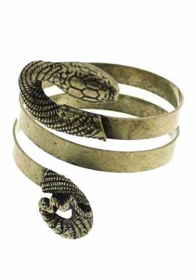 Copper Snake Wound Bangle Bracelet