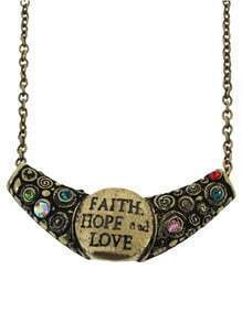 Multi Gemstone Gold Characterization Letters Necklace
