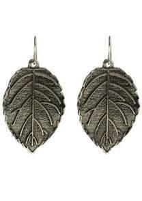 Silver Leaf Dangle Earrings