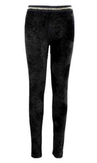 Black Skinny Velvet Leggings