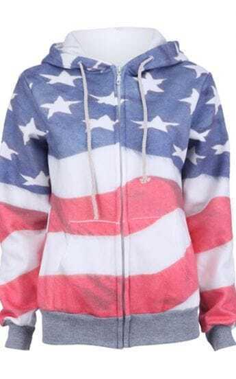 Sudaderas estampada bandera de Estados Unidos