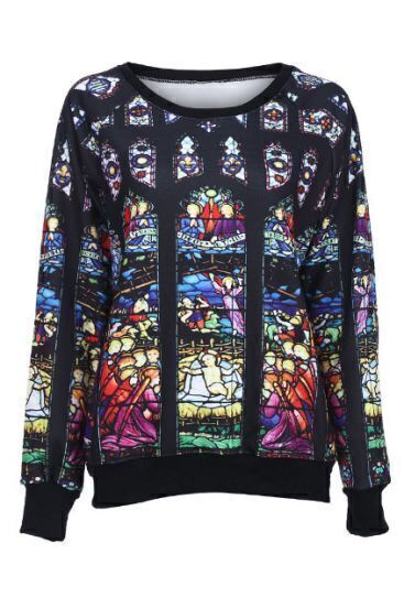 Black Mother of God Pattern Sweatshirt