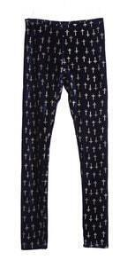 Royalblue Metallic Yoke Cross Corduroy Legging