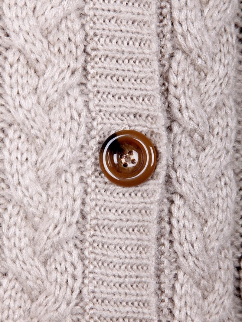 Light Coffee Hooded Long Sleeve Cardigan Sweater Coat -SheIn ...