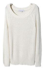 Beige Raglan Sleeve Chunky Pullover Sweater