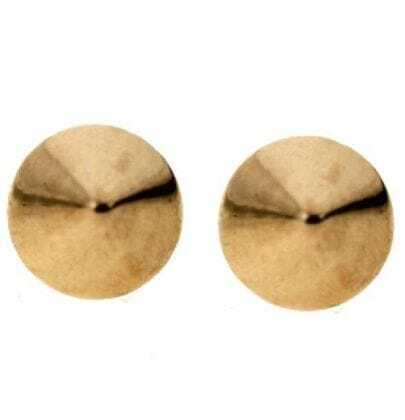 Gold Cone Stud Earrings