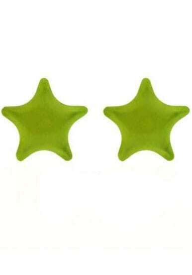 Yellow Star Stud Earrings