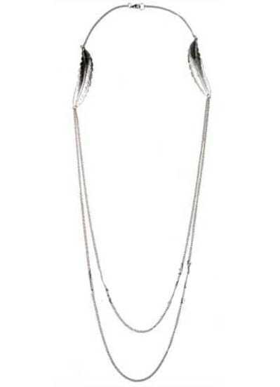 Silver Leaf Chain Necklace