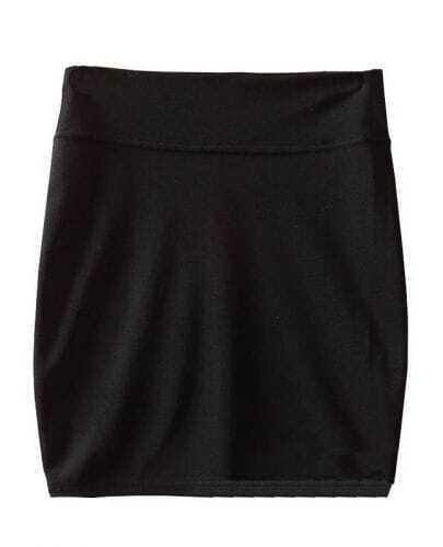 Black High Waist Bodycon Slim A Line Skirt