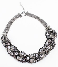 Fashionable Mix Style Crystal Full Rhinestone Chain Necklace
