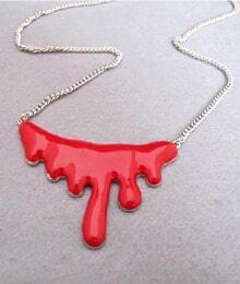 Charming Blood Shape Alloy Vampire Gothic Necklace