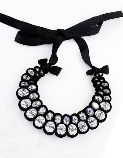Costume Jewelry Chokers Collar Necklaces With Crystal Beads