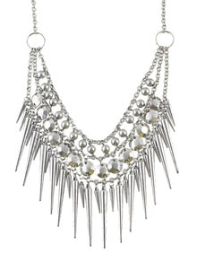 Fashionable Design Charming Bead Multilayer Spike Necklace