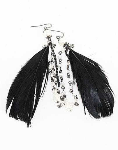 Graceful Hot Feather Earrings