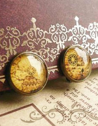 New Design Ancient Map Gothic Antique Earring