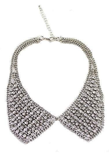 All Rhinestone Collars Necklace