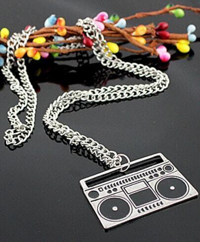 Music Fans's Favorite Vintage Silver Recorder Necklace