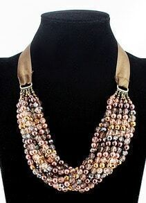 Latest Disign Lace Mulitlayer Bead Necklace