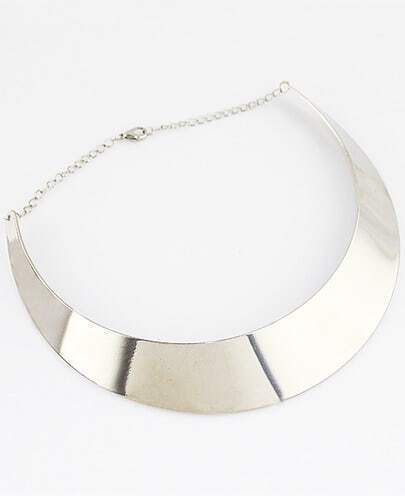 Latest Style Silver Collar Necklace